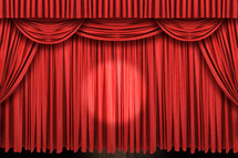 Stage curtains.