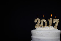 2017 candles on a cake