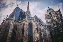 exterior of a cathedral in Vienna