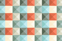 orange and geen checkered pattern