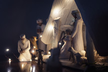 wooden nativity figurines