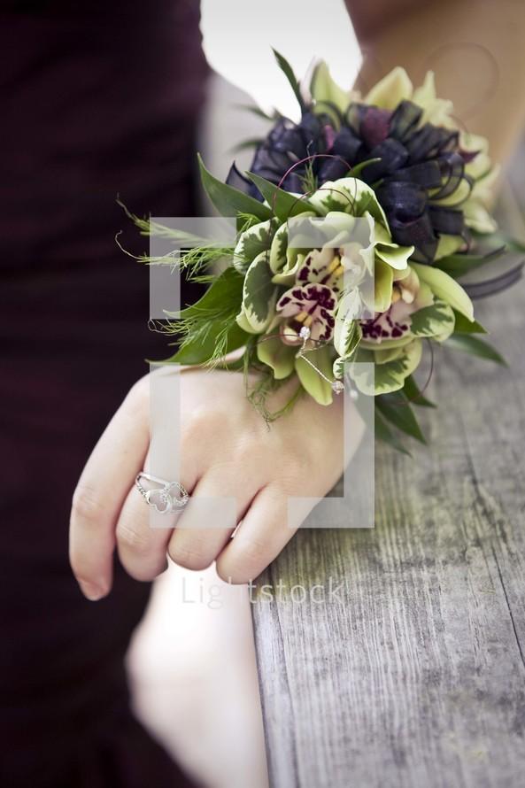 iris corsage