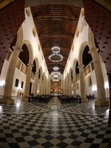 interior of a cathedral
