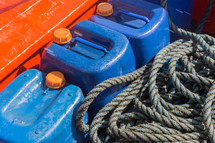 water jugs and rope