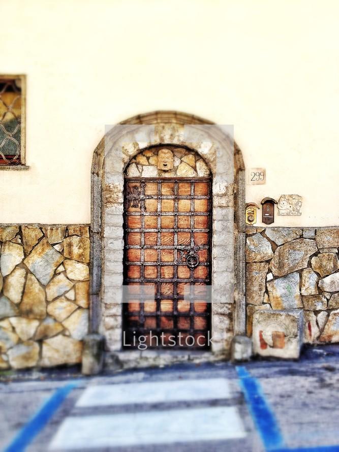 Old steel doorway
