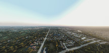 Aerial view over a suburb