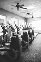 Elliptical machines in a gym