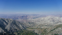 view of a mountain range