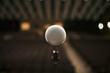 A close-up of a microphone.