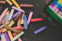 box of sidewalk chalk
