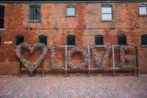 love locks on a sign