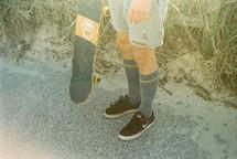 A skaters legs