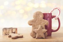 sugar cookies and a red mug