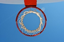 basketball hoop and net