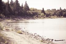 reservoir shore