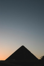 silhouette of a pyramid in Egypt
