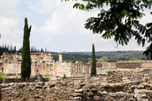 ruins of Synagogue in Capernaum, Israel