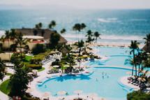 A beach resort.
