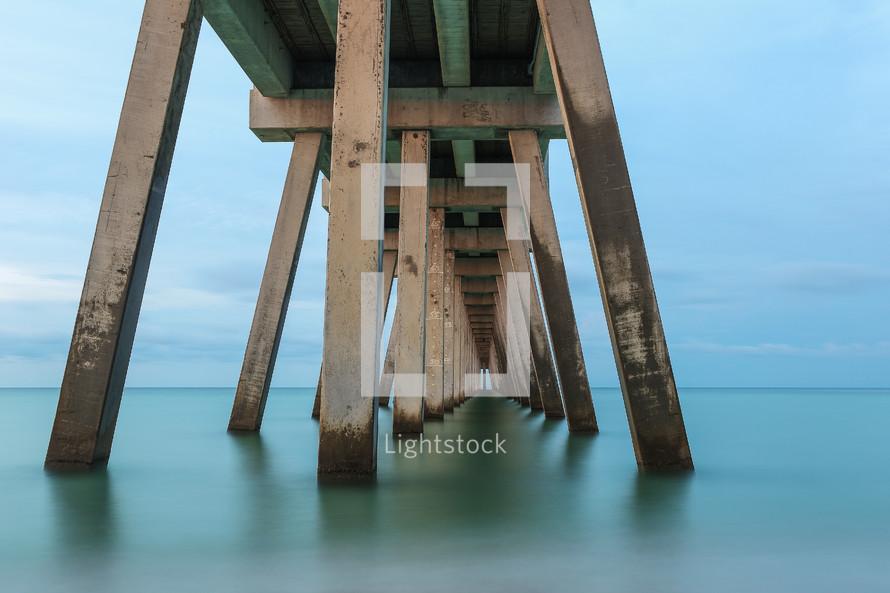 sea Water under a pier