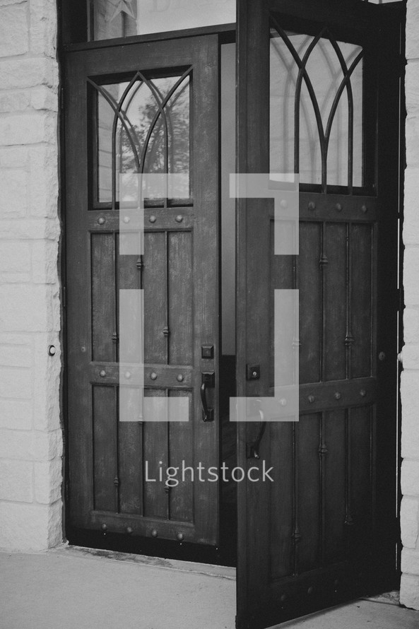 Two church doors