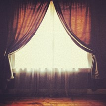 curtains and sheers over a window