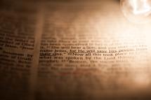 An underlined Bible verse.