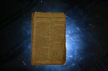 Old worn Bible pages
