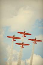 Planes flying together