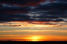 Sunset on the prairies