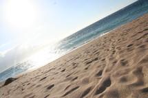 Sandy beach on a sunny day