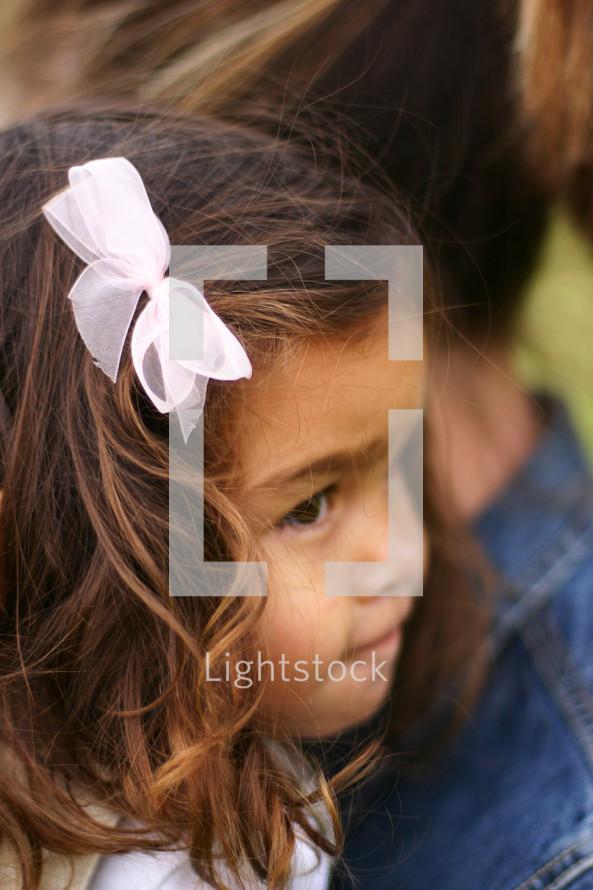 little girls face