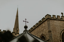 cross topper and steeple