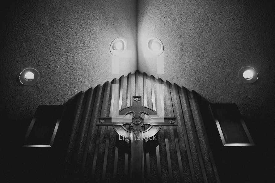 Cross in a sanctuary