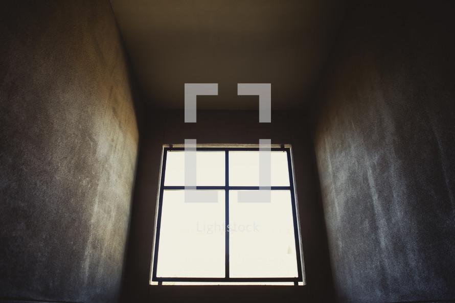 Interior view of upstairs dormer window.