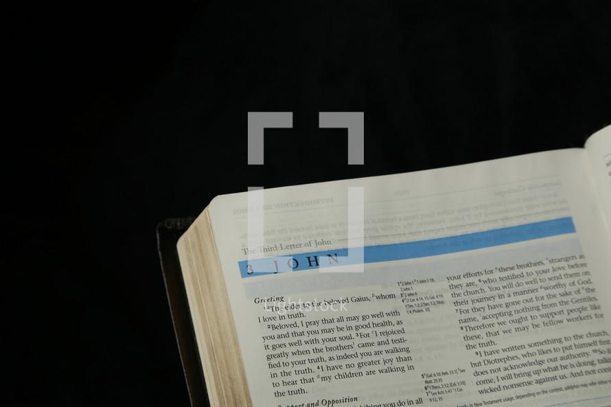 Bible opened to John