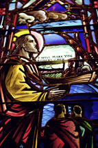 stained glass windows - Jesus speaking to the disciples
