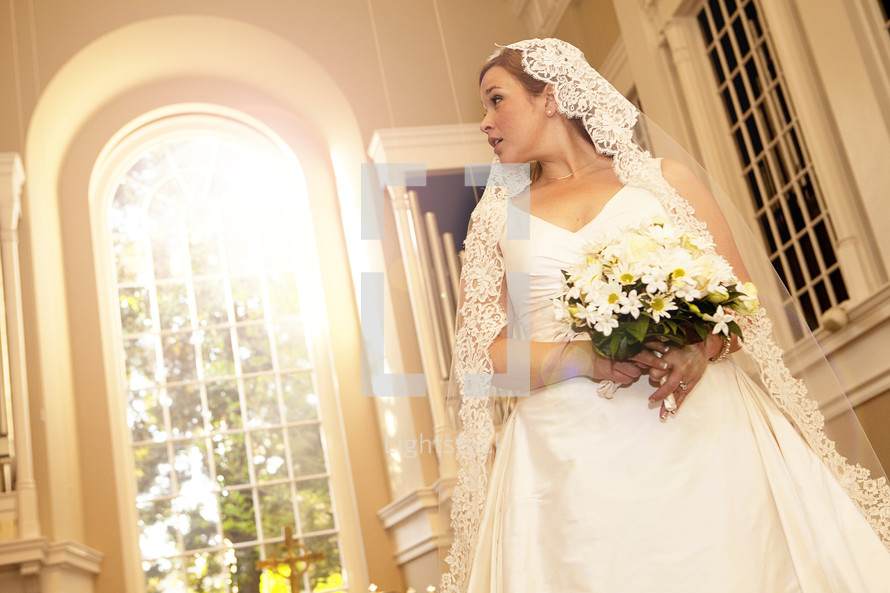 Bride inside church