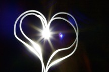 A heart shaped light
