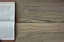 A Bible opened to 2 Peter