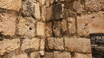 Walls to the Capernaum Synagogue that the roman centurion built for the Jewish people.