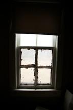 An old farmhouse window