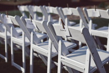reserved seats at a wedding