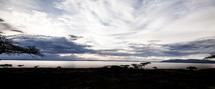 A panoramic view of sky and lake in Ethiopia