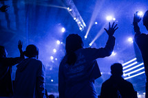 raised hands during worship music