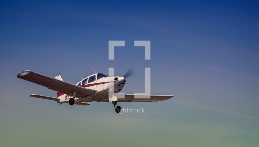 small plane in flight