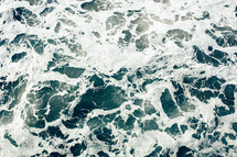 froth in ocean water