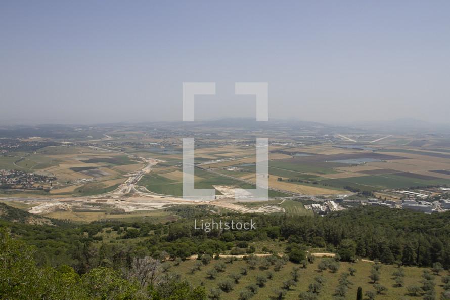 view of farmland in Israel
