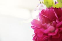 fuchsia flower arrangement