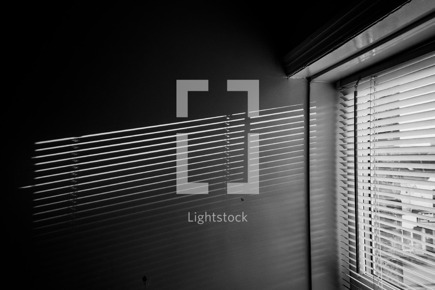 Minimal black texture background window and blinds