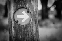arrow pointing the way